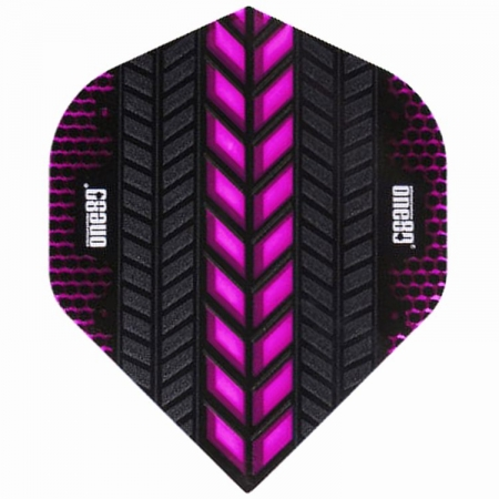 one80 AXIS Standard Dartflight pink/schwarz