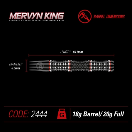 Winmau Mervyn King Softdart Special Edition 20 Gr