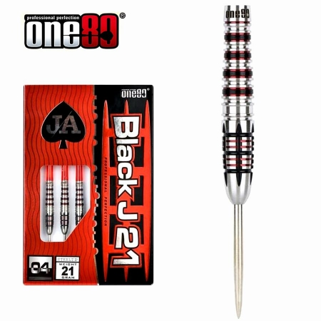 one80 Black J21  04 Steeldart-Set 21, 23 u. 25 Gr.